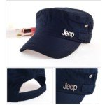 JEEP Unisex Sun Visor UV Protection Flat-Top Peaked Cap(Dark Blue) (Dark Flattop)