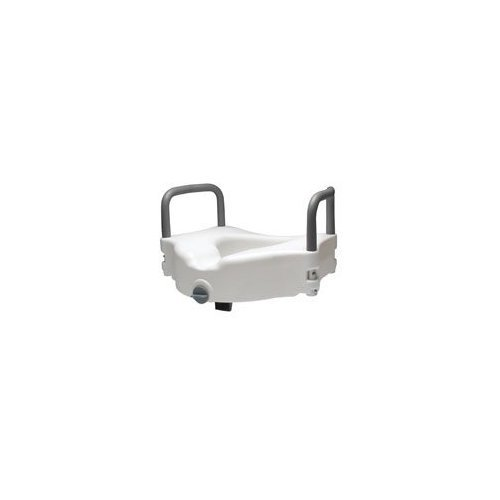 Awesome Lumex Locking Raised Toilet Seat With Removable Arms White Pabps2019 Chair Design Images Pabps2019Com