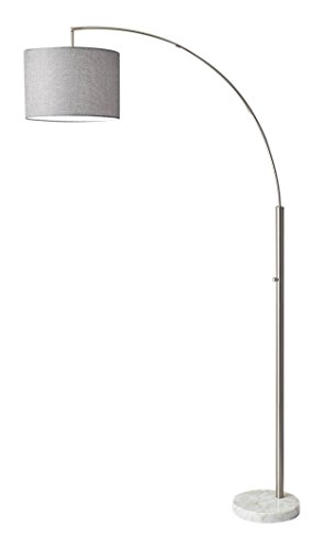 Adesso 4249-22 Bowery Arc Lamp, Steel, Smart Outlet Compatible, 73.5""