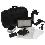 Fotodiox Pro LED 209AS, Photo / Video LED Light Kit with Lighting Bracket, Dimmable Switch, Daylight / Tungsten Switch, Sony Type Battery, Charger, Diffuser, Hot Shot Mount & Carrying Case