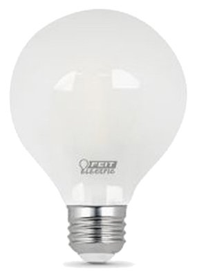 Feit Electric BPG2540/F/827/LED 4.5W Fros Fil Glob Bulb - Quantity 6