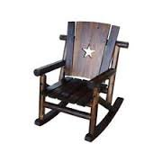 large wooden rocking chair with patio lawn garden