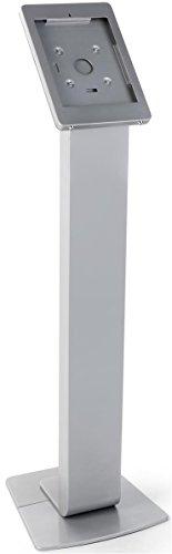 Displays2go Silver Floorstanding iPad Mounts, Floor Standing, Rotating Design, Cable Management, Aluminum – Silver (IPROSTNSV2) by Displays2go (Image #1)'