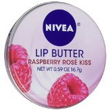 NIVEA Lip Butter Loose Tin, Raspberry Rose Kiss, 0.59 Ounce (PACK OF 3) by Nivea