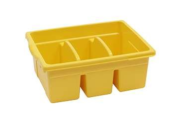 Leveled Reading Yellow Large Divided Book Tub By Copernicus Educational Prod.