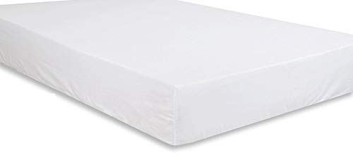 (1-Piece Fitted Sheet/Bottom Sheet Fit up to 10'' Deep Pocket Solid Pattern 100% Egyptian Cotton Super Soft 400 Thread Count. (Twin XL (Twin Extra Long), White))