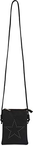 styleBREAKER Mini Sacoche avec découpes en Forme d'étoile, Sac en bandoulière, Sac à Main, Femmes 02012235, Couleur:Bleu…
