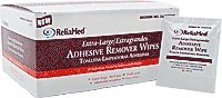 ReliaMed Extra-Large Adhesive Remover Wipe 4 x 4-3/4 [Box of 50]