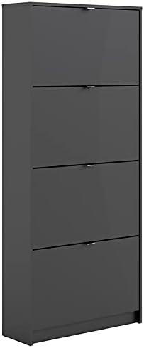 Tvilum, Black Matte Bright 4 Drawer Shoe Cabinet