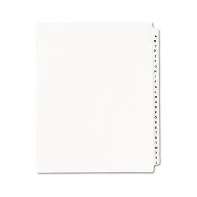 - Avery 01400 Avery-Style Legal Exhibit Side Tab Divider, Title: A-Z, Letter, White