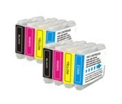 8 PK 2 Sets (2B,2C,2M,2Y) Brother LC51 LC-51 Compatible Ink Cartridges for Brother MFC240C, DCP130C, MFC-5460CN, MFC-440CN, MFC-665CW, MFC-5860CN, MFC-3360C