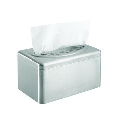 Kimberly Clark 09924 Hand Towel Tissue Box Cover Dispenser, Stainless Steel (1 Individual Box Cover)
