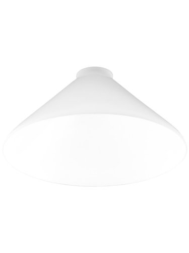 """10"""" Diameter Cased White Cone Shade With 2 1/4"""" Fitter"""
