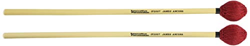 (Innovative Percussion IP2007 James Ancona Series Hard Vibraphone/Marimba Mallets with Rattan Handles)