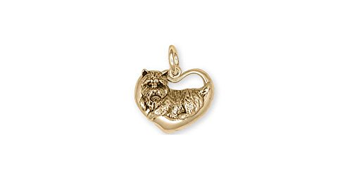 (Cairn Terrier Jewelry 14k Gold Cairn Terrier Charm Handmade Dog Jewelry CNCR5-CG )