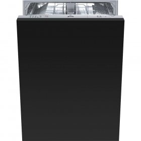 "Smeg Fully integrated 24"" Dishwasher Maxi-Height Door, 13 Place Settings 10 Wash Cycles, STU8649"
