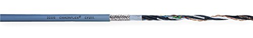 Chainflex / Igus - CF211-02-14-02-100 - Shielded Continuous Flexing Data Cable, 100 ft. Length, Gray Jacket Color