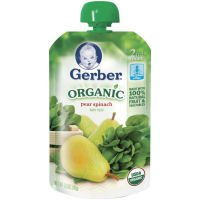 Gerber 2nd Foods Organic Baby Food Pear Spinach 2 PK (Pack of 12)