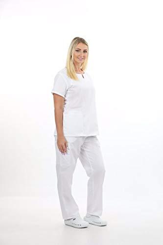 MAZEL UNIFORMS Womens Junior FIT Scrub Set with Cargo Pant Runs Small Ceil Blue (Medical Scrubs Junior)