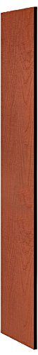 (Salsbury Industries 33333CHE Side Panel for 18-Inch Deep Designer Wood Locker without Sloping Hood, Cherry)