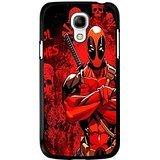 Samsung Galaxy S4 Mini Cover Shell Unique Red Skulls Design Awesome Comic Superhero Deadpool Phone Case Cover for Samsung Galaxy S4 Mini Mercenary Great