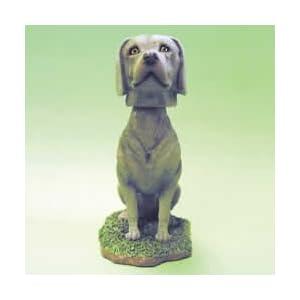 Weimaraner Head Plaque Figurine