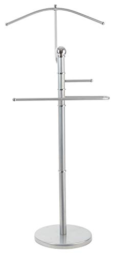 StorageMaid Metal Suit Valet Stand - Gorgeous Chromed Metal with Finished Detail - Best Organization Solution for Bedrooms, Master Closets, and Dorm Rooms - Prime Gift Idea for Women (Best Man Suit Ideas)
