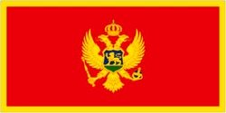 Novelties Direct-Montenegro/montenegrinian (2006on) Bandiera 1, 5x 0, 9m (100% poliestere) con occhielli per appendere MIdland