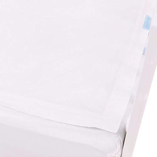 QuickZip Crib Sheet Set - Faster, Safer, Easier Baby Crib Sheets - Includes 1 Wraparound Base & 1 Zip-On Crib Sheet - White 100% Cotton - Fits All Standard Crib Mattresses Clouds & Stars Quick Zip
