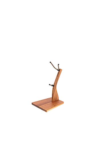 - Zither Wooden Saxophone Stand - Handcrafted Solid Mahogany Wood Floor Stands, Made in USA