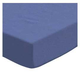 SheetWorld Fitted Pack N Play (Graco Square Playard) Sheet - Flannel - Denim Blue - Made In USA by SHEETWORLD.COM