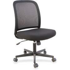Lorell LLR83304 Mesh Armless Mid-Back Task Chair