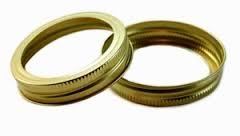 Ball Generic (made by WIDE Mouth Rings/Bands 1 dozen (12 bands total), 86 mm, Gold, Canning, Mason Jar, BULK ()
