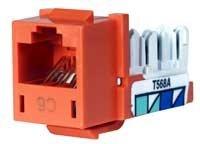 Orange HXJ6OR Hubbell XCELERATOR Category 6 Universal Modular Jack