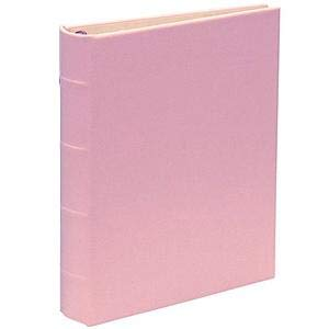 Baby-Pink bonded leather 1-up portable 3-ring Album with slip-in pockets by Graphic ImageTM - 4x6