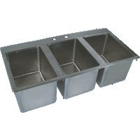 BK Resources S/S 3 Compartment Drop In Sink 10''x14''x10'' NSF BK-DIS-1014-3 by BK Resource (Image #1)