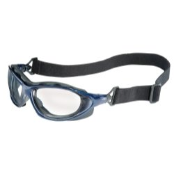 Seismic Safety Glasses with Metallic Blue Frames and Clear Lens and Uvextra AF Coating Tools Equipment Hand Tools