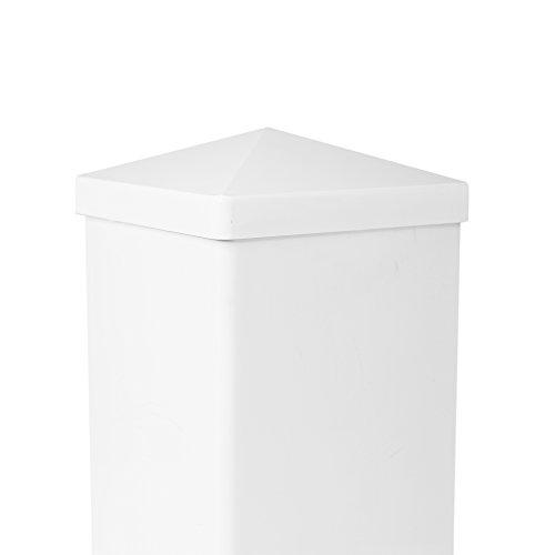 (CC Outdoor Living 4x4 Crisp White Classic Pyramid Style PVC Fence Post Cap)