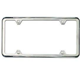 mini cooper license plate frame slim line satin finish - Mini Cooper License Plate Frame