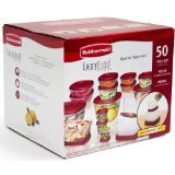 - Rubbermaid Easy Find Lids Food Storage Containers, Racer Red, 50-Piece Set B002RSO2PW