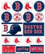 Boston Red Sox Sticker (MLB Boston Red Sox Vinyl Sticker Sheet, 5