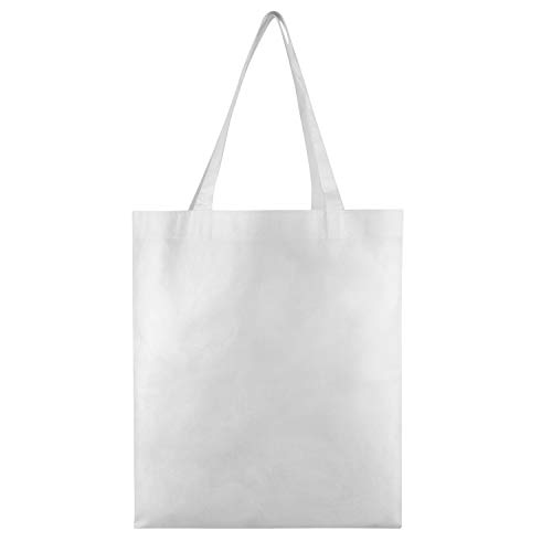 (25 PACK - Wholesale Non-Woven Tote Bags, Convention Bags, Promotional Bags, NTB10 (WHITE))