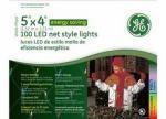 SANTA's BEST CRAFT GE97455CC GE 100 Count Multicolor LED Net Style Light Set