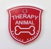 Shield Tag Dog - Therapy Animal tag shaped like a shield (For small animals)