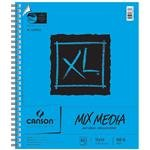 """Canson 100510930 XL Mix Media Pad, 14"""" x 17"""" Size, 60 Sheets, Side Wire Bound, 0.7"""" Height, 14"""" Width, 18"""" Length"""