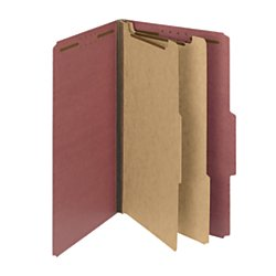 Pressboard Divider 2 (Smead 100% Recycled Pressboard Classification File Folder, 2 Dividers, 2