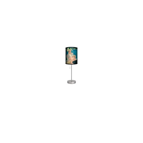 Cassat Baby & Mother Boating Lamps and Lighting, Contemporary Modern Table Lamp, Living Room or Desk - Adults / Teens by Lamp in a Box