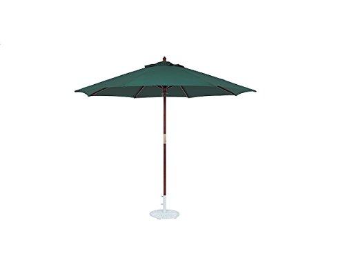Tropishade 11-foot Wood Green Market Umbrella