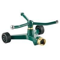 (Metal REVOLVING Sprinkler with Wheeled Base - 45 Foot DIAM)