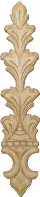 (Veneered Oak Leafs Decorative Ornament Applique - 9-1/4